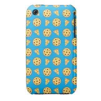 Sky blue pizza pattern Case-Mate iPhone 3 case