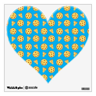 Sky blue pizza pattern room decals