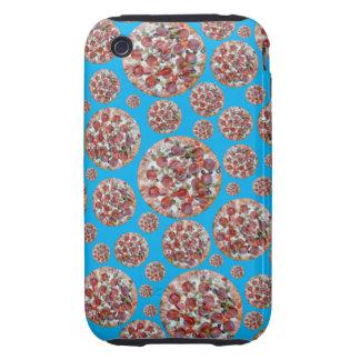 Sky blue pizza pie tough iPhone 3 cover