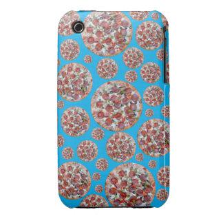 Sky blue pizza pie iPhone 3 cases