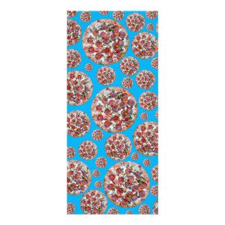 Sky blue pizza pie custom rack card