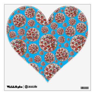 Sky blue pizza pie wall graphics