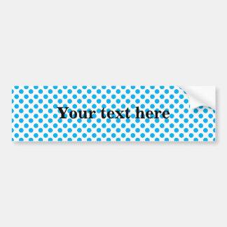 Sky blue polka dots pattern bumper sticker
