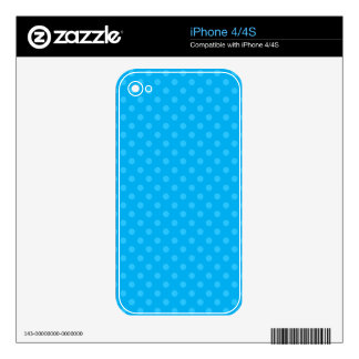 Sky blue polka dots skin for the iPhone 4