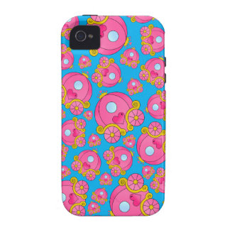 Sky blue princess carriage pattern vibe iPhone 4 case
