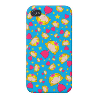 Sky blue princesses and stars iPhone 4 cases