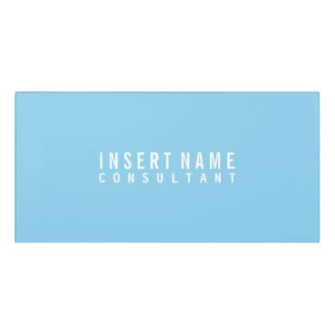 Lawyer Themed Sky Blue Professional Modern Plain Door Sign