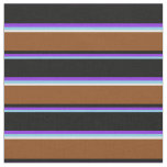 [ Thumbnail: Sky Blue, Purple, Black, Brown & White Colored Fabric ]