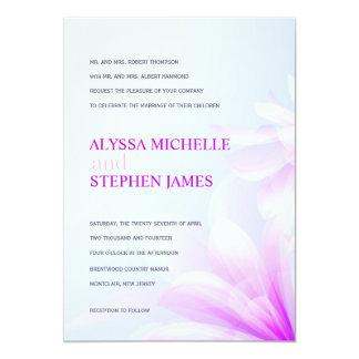 Sky Blue Purple Floral Formal Invitations