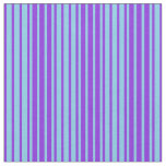 [ Thumbnail: Sky Blue & Purple Lines Pattern Fabric ]