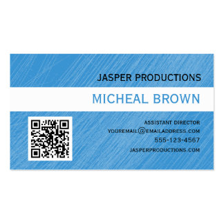 Sky Blue QR Code Business Card
