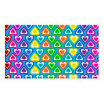 sky blue rainbow hearts pattern business card