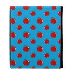 Sky blue red apple pattern iPad case