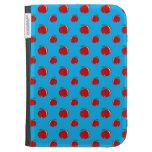 Sky blue red apple pattern kindle keyboard case