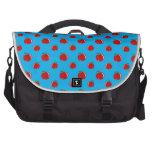 Sky blue red apple pattern laptop messenger bag