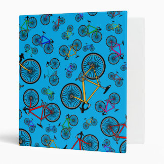 Sky blue road bikes binder