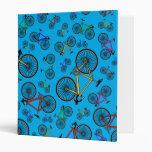 Sky blue road bikes vinyl binder