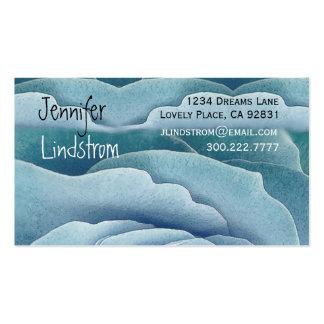SKY BLUE Rose Business Card Template