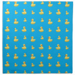 Sky blue rubber duck pattern cloth napkins