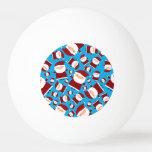 Sky blue santa pattern Ping-Pong ball