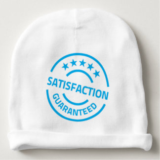sky blue satisfaction guaranteed stars baby beanie