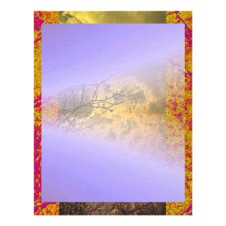 SKY BLUE Shades with Borders Letterhead
