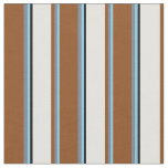 [ Thumbnail: Sky Blue, Slate Gray, Brown, Light Cyan, and Black Fabric ]
