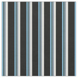 [ Thumbnail: Sky Blue, Slate Gray, Mint Cream & Black Fabric ]
