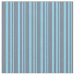[ Thumbnail: Sky Blue & Slate Gray Pattern Fabric ]