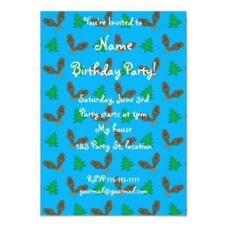 Sky blue snowshoe pattern 5x7 paper invitation card