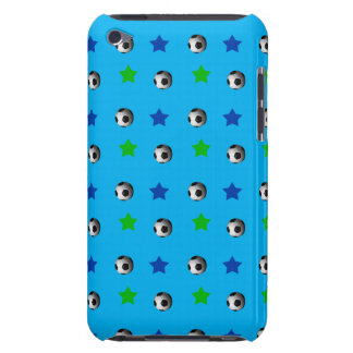 sky blue soccer balls and stars barely there iPod case
