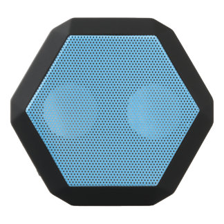Sky Blue Solid Color Black Bluetooth Speaker