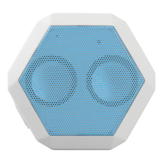 Sky Blue Solid Color White Bluetooth Speaker