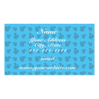 Sky blue squirrel pattern Double-Sided standard business cards (Pack of 100)