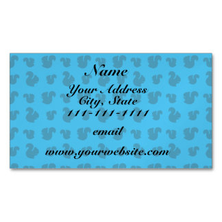 Sky blue squirrel pattern magnetic business cards (Pack of 25)