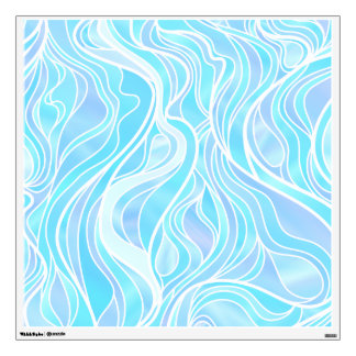 Sky blue Stained Glass Abstract Wall Decal