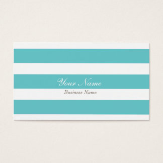 Sky Blue Stripe Business Card