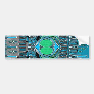 Sky blue superfly design car bumper sticker