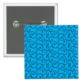 Sky blue swirls 2 inch square button