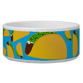 Sky blue tacos dog food bowl