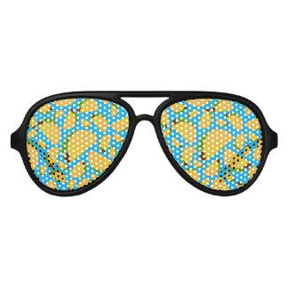 Sky blue tacos aviator sunglasses