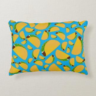Sky blue tacos accent pillow