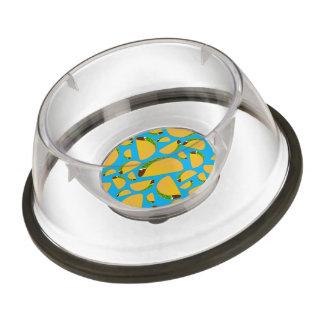 Sky blue tacos pet bowl