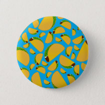Sky blue tacos pinback button