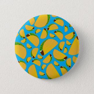 Sky blue tacos pinback button
