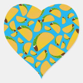 Sky blue tacos heart sticker