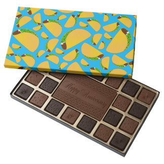 Sky blue tacos 45 piece assorted chocolate box