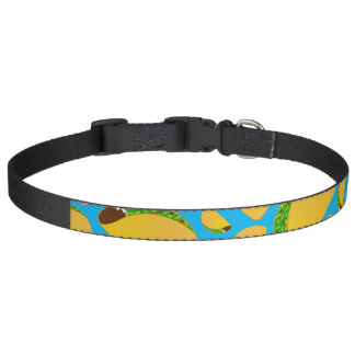 Sky blue tacos pet collars