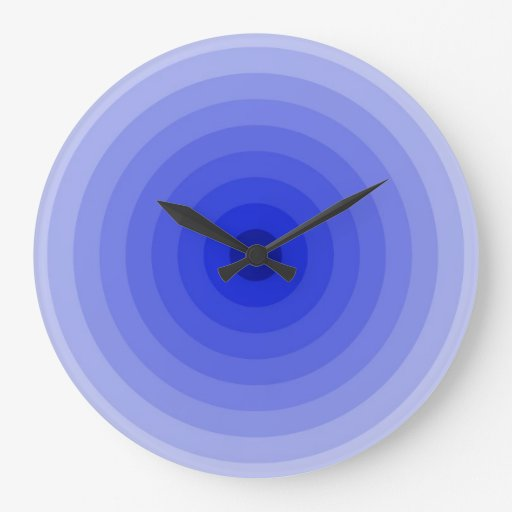 Sky blue target wall clock large zazzle for Large wall clocks target