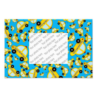 Sky blue taxi pattern photo print